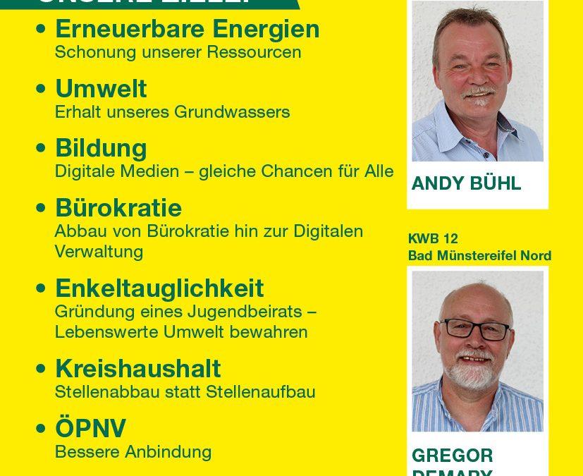 Unsere Kandidaten für den Kreistag